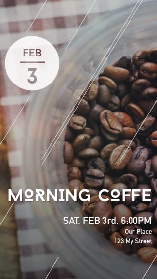 Text Message Invite Designs for Morning Coffee Meeting