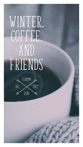 Text Message Invite Designs for Winter Coffee With Friends