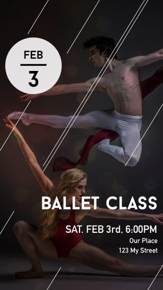 Text Message Invite Designs for Ballet Class