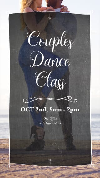 Text Message Invite Designs for Couples Dance Class