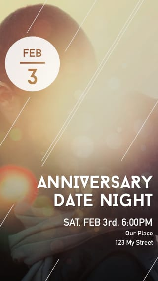Text Message Invite Designs for Anniversary Date Night
