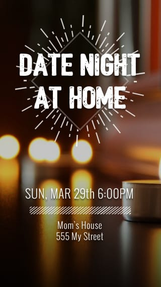 Text Message Invite Designs for Date Night At Home