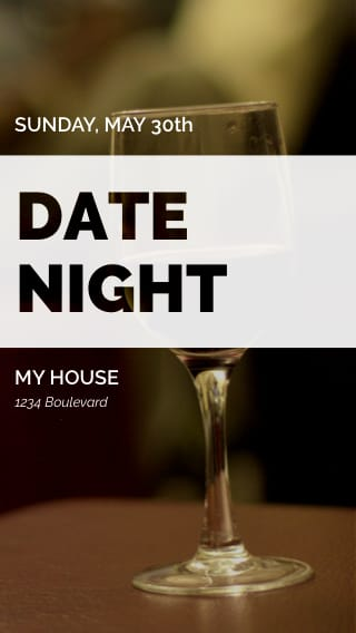 Text Message Invite Designs for Date Night