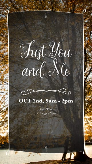 Text Message Invite Designs for Just You and Me Date Night
