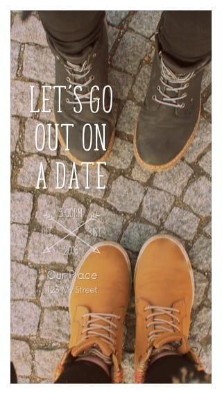 Text Message Invite Designs for Let's Go Out on a Date
