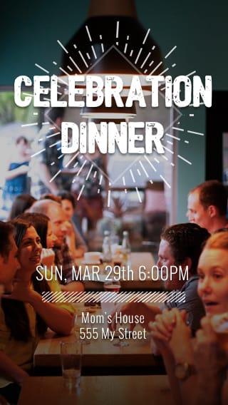 Text Message Invite Designs for Celebration Dinner