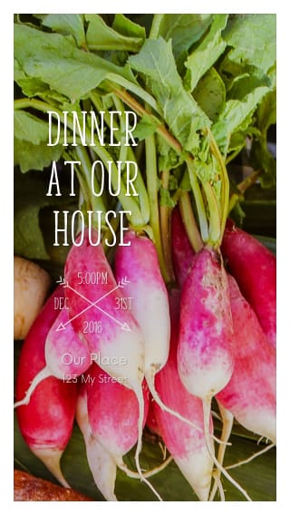 Text Message Invite Designs for Dinner at our House