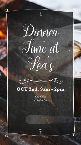 Text Message Invite Designs for Dinner Fun