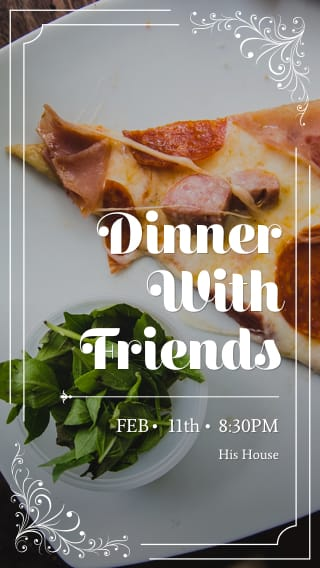 Text Message Invite Designs for Dinner with Friends