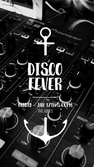 Text Message Invite Designs for Disco Fever