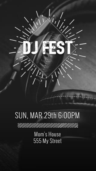 Text Message Invite Designs for DJ Festival