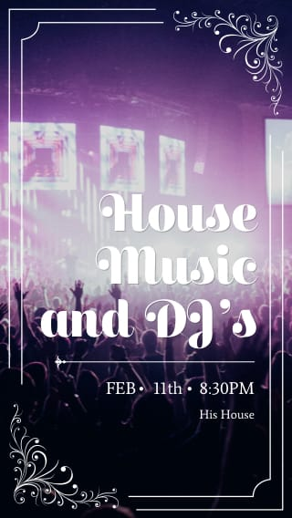 Text Message Invite Designs for House Music and DJs
