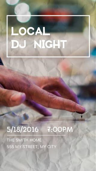 Text Message Invite Designs for Local DJ Night