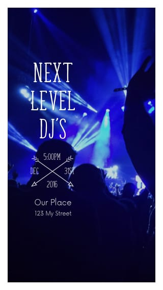 Text Message Invite Designs for Next Level DJs