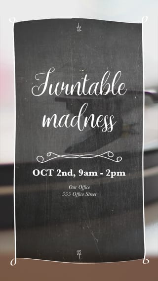 Text Message Invite Designs for Turntable Madness