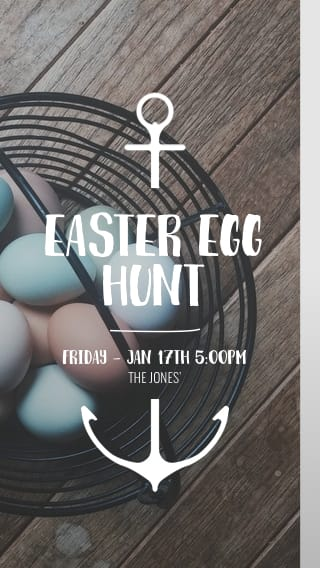 Text Message Invite Designs for Easter Egg Hunt