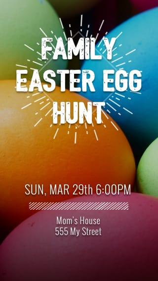 Text Message Invite Designs for Family Easter Egg Hunt