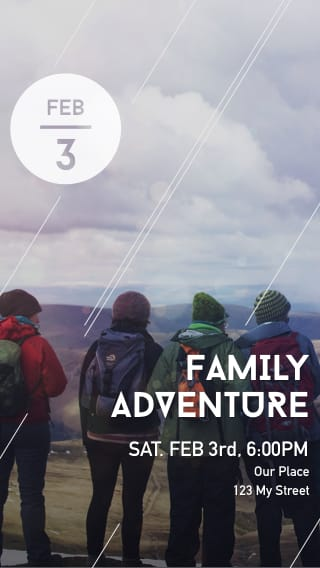 Text Message Invite Designs for Family Adventure