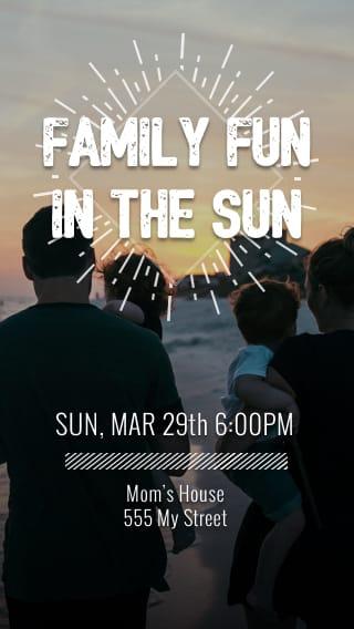 Text Message Invite Designs for Familty Fun in the Sun