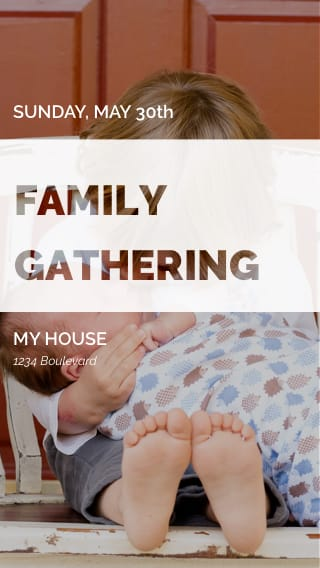 Text Message Invite Designs for Family Gathering