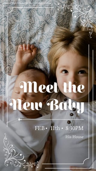 Text Message Invite Designs for Meet the New Baby