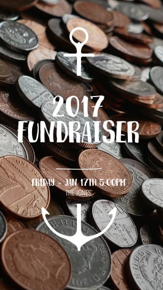 Text Message Invite Designs for 2017 Fundraiser