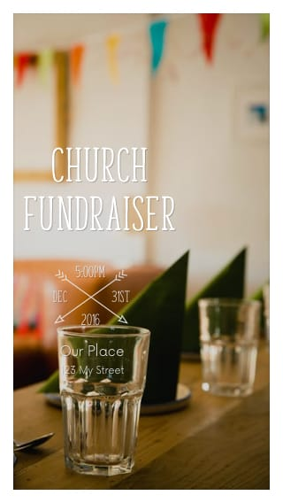 Text Message Invite Designs for Church Fundraiser