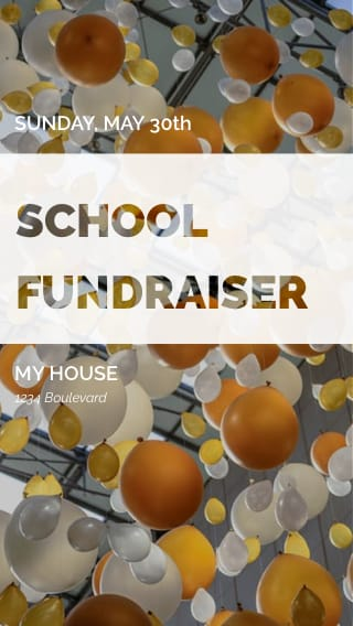 Text Message Invite Designs for School Fundriaser