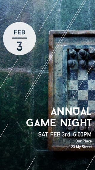 Text Message Invite Designs for Annual Game Night