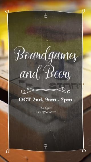 Text Message Invite Designs for Boardgames and Beers