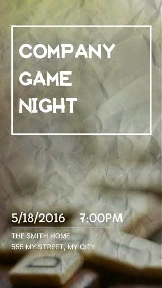 Text Message Invite Designs for Company Game Night