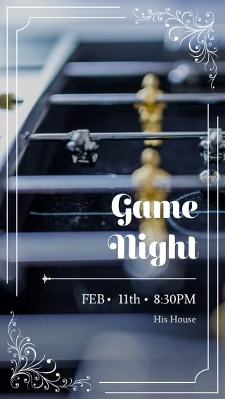 Text Message Invite Designs for Game Night
