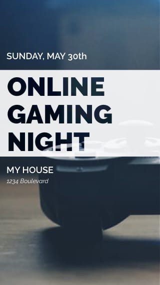 Text Message Invite Designs for Online Gaming Night