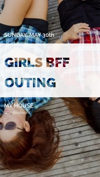 Text Message Invite Designs for Girls' BFF night