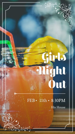 Text Message Invite Designs for Girls Night Out