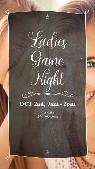 Text Message Invite Designs for Ladies Game Night