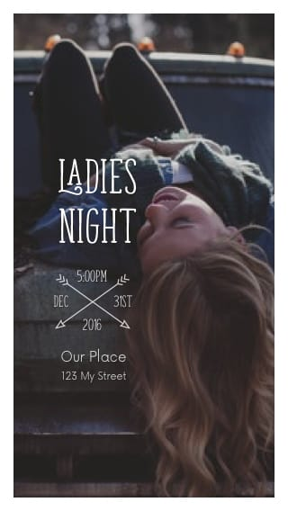 Text Message Invite Designs for Ladies Night of Fun