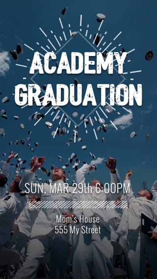 Text Message Invite Designs for Academy Graduation