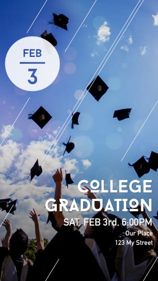 Text Message Invite Designs for College Graduation