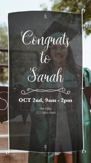 Text Message Invite Designs for Congrats to the Grad