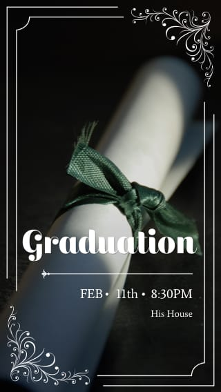Text Message Invite Designs for Graduation Party