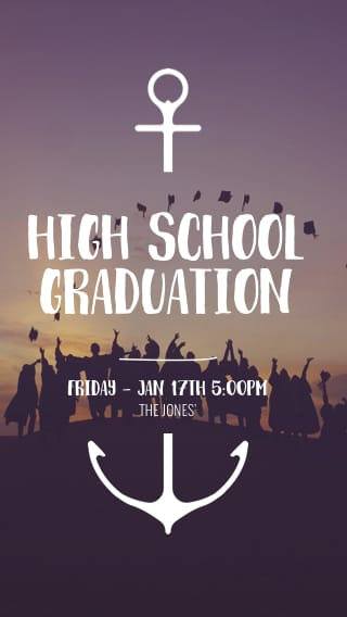Text Message Invite Designs for High Scool Graduation
