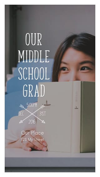 Text Message Invite Designs for Middle School Grad Party