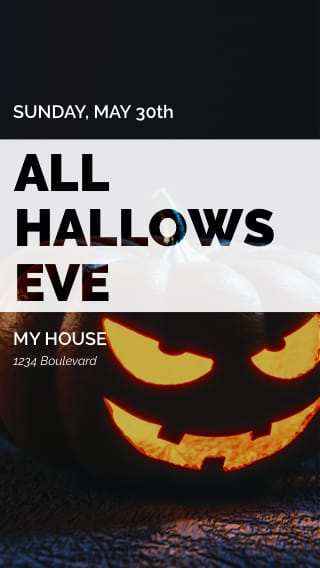 Text Message Invite Designs for All Hallows Eve