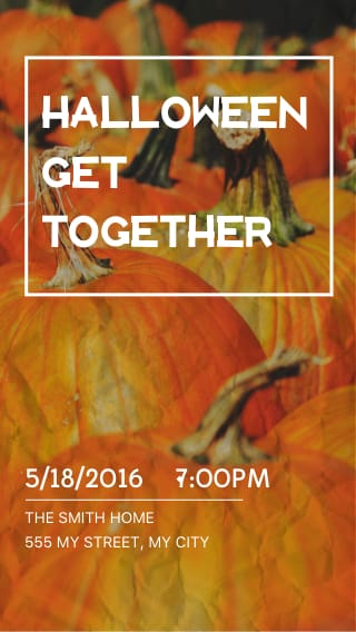 Text Message Invite Designs for Halloween Get Together