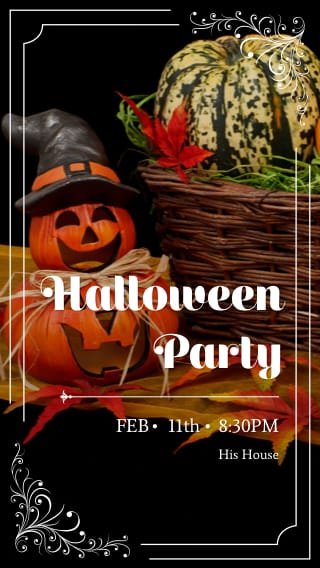 Text Message Invite Designs for Halloween Party