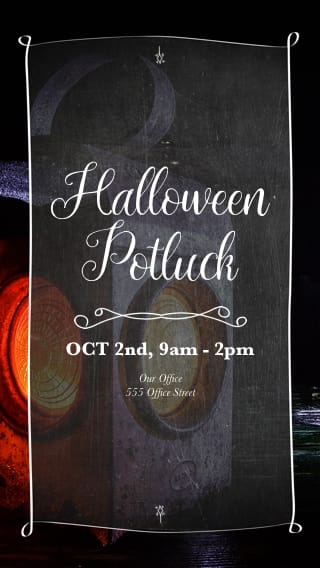 Text Message Invite Designs for Halloween Potluck
