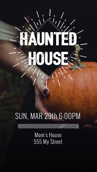 Text Message Invite Designs for Haunted House