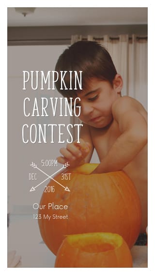 Text Message Invite Designs for Pumpkin Carving Contest