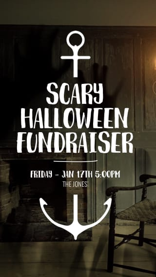 Text Message Invite Designs for Scary Halloween Fundraiser